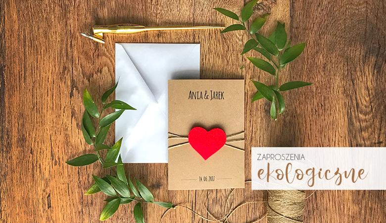 Zaproszenia ślubne ekologiczne