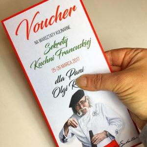 Zaproszenia firmowe Vouchery Bony